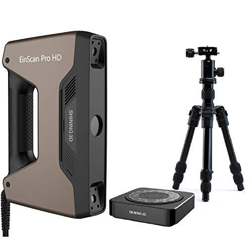 [ EinScan Pro HD ] + [ Industrial Pack for Pro HD ] Handheld 3D Scanner with SolidEdge Shining3D Edition CAD Software for Reverse Engineering, Healthcare, Manufacturing, Research, Art and Design