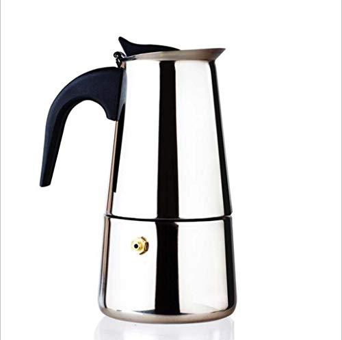 HYJHDD Cocina De Inducción del Hogar 300Ml Que Calienta El Fabricante Italiano del Café De La Moca del Acero Inoxidable...
