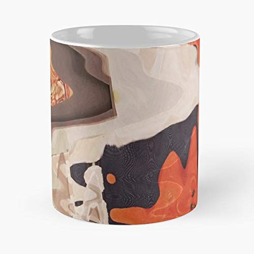 (Abstract Photoshop Pattern Orange - 11 Oz White -coffee Mug- Unique Birthday Gift-the Best Gift For Holidays.)