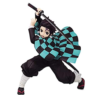 Youyouchard Anime Demon Slayer Kimetsu no Yaiba Action Figure Kamado Tanjirou Kamado Nezuko Vinyl Figure Statue Action Collectible PVC Figure Toys Manga Fans Gift( Kamado Tanjirou): Toys & Games