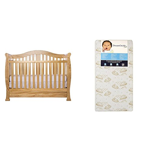 Dream On Me Addison Crib with Dream On Me Spring Crib and Toddler Bed Mattress, ()