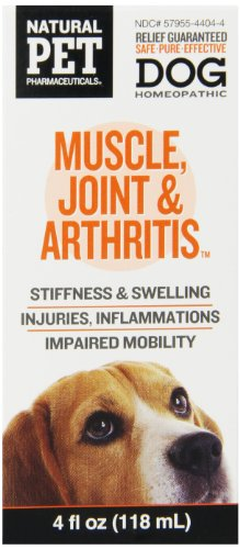 Natural Pet Pharmaceuticals by King Bio Muscle, Joint and Arthritis Control for Dog, 4-Ounce