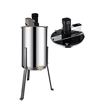 Electric 4 Frame Hopopular Electric Honey Extractor 4 Frame Stainless Steel Bee Extractor Beekeeping Equipment with Stand Legs