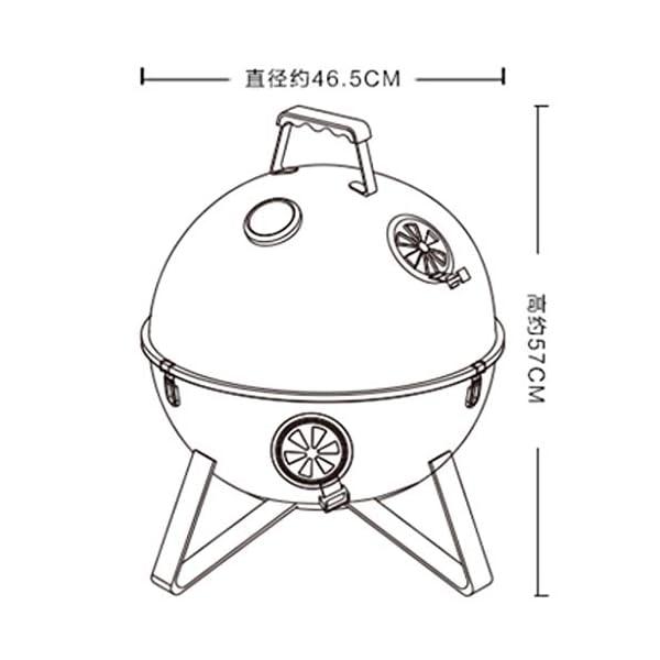 MH BBQ Grill - Barbecue a carbonella di Spazio Grill Portatile a Carbone Grill Grande Strumento Barbecue @ 2 spesavip