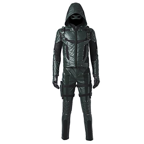 CosplayDiy Men's Suit for Green Arrow Season V Oliver Queen Cosplay M -