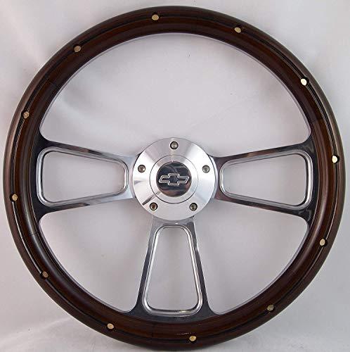 - Compatible with 1974-1994 Chevy Cheyenne, Scottsdale, Silverado Wood Steering Wheel Full Kit