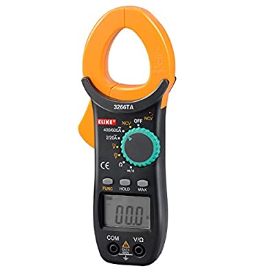 ELIKE 3266TA 600A Auto-Ranging Digital Clamp On Meter & Multimeter with NCV,AC/DC Voltage,Resistor,Diode,Continuity