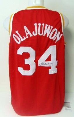 fbff41127 Hakeem Olajuwon Autographed Jersey - GLOBAL - Autographed NBA Jerseys