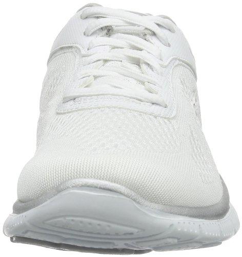 Skechers Flex Appeal Love Your Style, Zapatillas Deportivas, Mujer, NULL, Blanco (White/Silver)