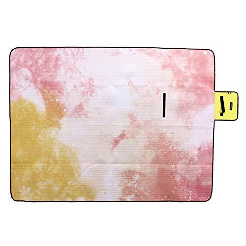 - SPICE OF LIFE Vacances Picnic Ground Mat - Pink Lemonade - Waterproof Floor Covering, Large Outdoor Blanket