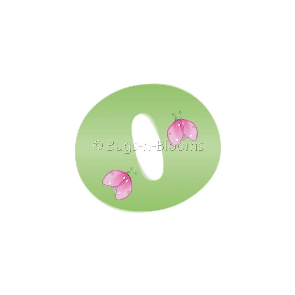 Wall Letters o Green Pink Ladybug Letter Stickers Alphabet Initial Vinyl Sticker Kid Decals Children Room Decor Baby Nursery Girl Bedroom Decorations Child Names Personalized Decal Graphics Ladybugs