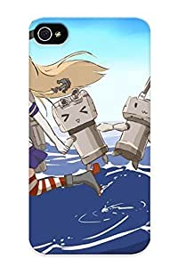 New Premium 75bc62f88 Case Cover For Iphone 5/5s/ Kantai Collection Blonde Hair Boots Bow Elbow Gloves Kantai Collection Robot Shimakaze (kancolle) Takekumo Thighhighs Water Protective Case Cover