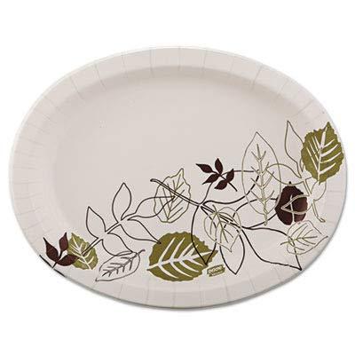 (Dixie Ultra Pathways Heavyweight Oval Platters, 8 1/2 x 11, Green/Burgundy, 125/Pack)