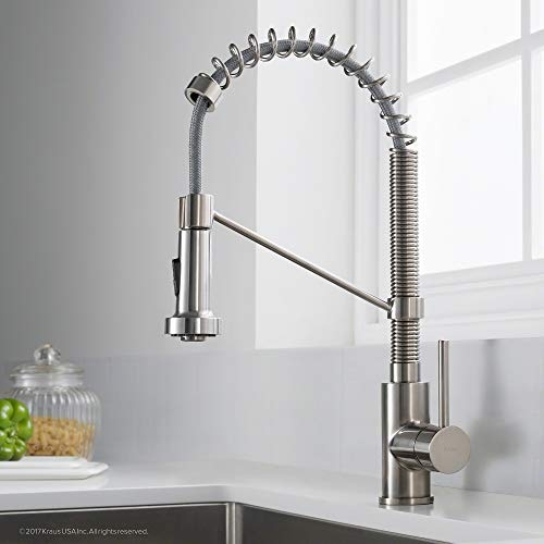 Kraus KPF-1610SS Bolden Single Handle 18-Inch Commercial Kitchen Faucet with Dual Function Pull Down Spray Head Finish Kpf-1610SS