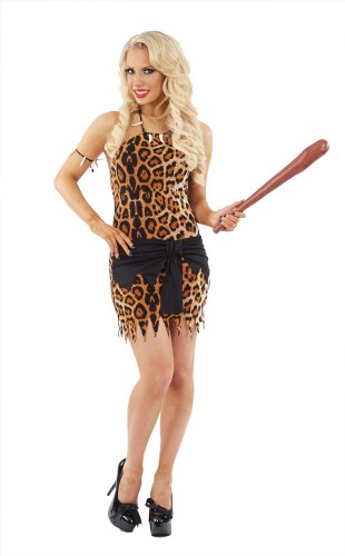 Cave Girl Female Fancy Dress Costume & Accessories - Medium (US 10-12) (Fancy Dress Cave Girl)