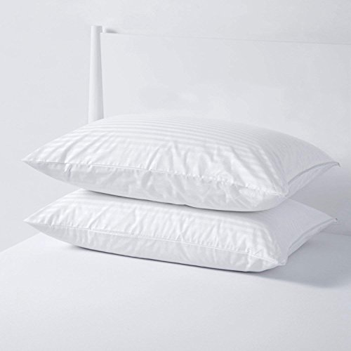 Dreamaker Cotton Sateen Pillow Cover Protector Pillowcases Sham with Zipper Queen King Size (2, King 20'' x 36'') (Cotton Sateen Shams)