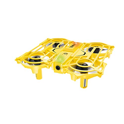 JinJin Mini 2.4G Gravity Sensor Infrared Sensor Hand Control Flying RC Quadcopter (Yellow)