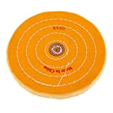 Cotton Lint Cloth Buffing Wheel Jewelry Polishing Wheel 8MM Inner Hole, 200mm/3inch Diameter