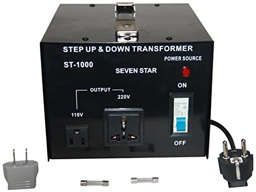 Price comparison product image seven star st 1000 Step Up/Down transformer converts 220-240 volts down to 110-120 Volts or 110-120 volts up to 220-240 volts. 1000 WATTS