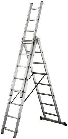 WOLFPACK LINEA PROFESIONAL 23021052 Escalera Aluminio Industrial 14 3x4 MT: Amazon.es: Bricolaje y herramientas