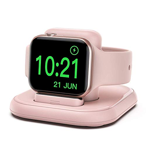 cargador inalambrico para apple watch 6/5/4/3/2/1/se rosa