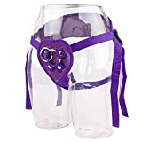 GLOINSY Vibrators C-lit Soft C-rystal Jelly R-ealistic Suction Cup Strap On P-Enis Pegging Strapon Harness A-nal Adult Sex Toys for Woman - Harness A