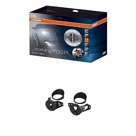 FOG103//201-NIS-M 1 Komplettset OSRAM LEDriving FOG PL Nebelscheinwerfer//Tagfahrlicht in Silber mit Zusatzbefestigung LEDFOG103-SR