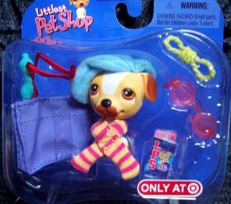 Exclusive Littlest Pet Shop Single Frenchie Dog with lots of -