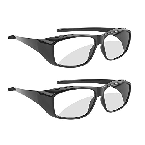 SOUBUN Unisex Passive 3D Glasses for LG, Panasonic, Vizio and all Passive 3D TVs & RealD 3D Cinema Glasses (2 Pack)