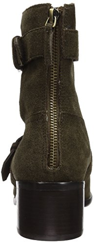 La Victoire Women's Green Army Martine Pour Mid Boot Calf ZOwHqP7nC