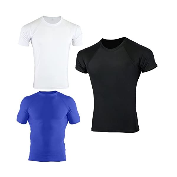 Verus Kids Plain MMa Rash Guard BJJ Grappling Half Sleeve Shirts