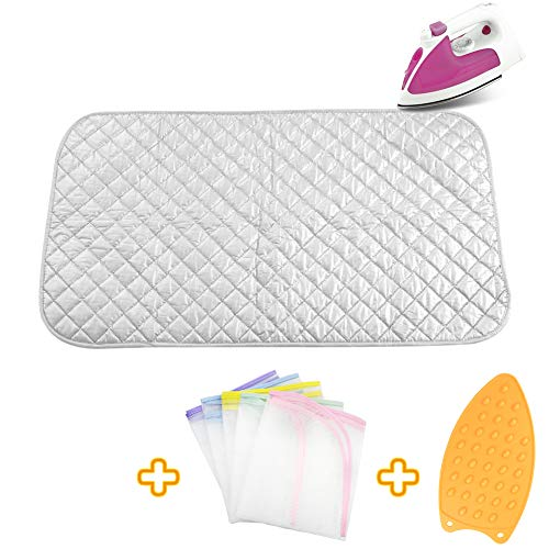 - Ironing Blanket Ironing Mat,Upgraded Thick Portable Travel Ironing Pad,Heat Resistant Pad Cover for Washer,Dryer,Table Top,Countertop,Ironing Board for Small Space (18.9 x 33.5 inch)