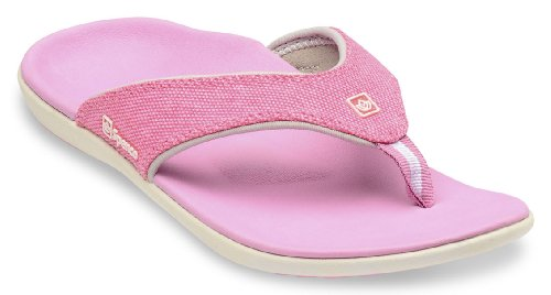 Spenco Yumi Canvas - Supportive Sandals Pink - 8 (Sandals Flip Pink Flops)