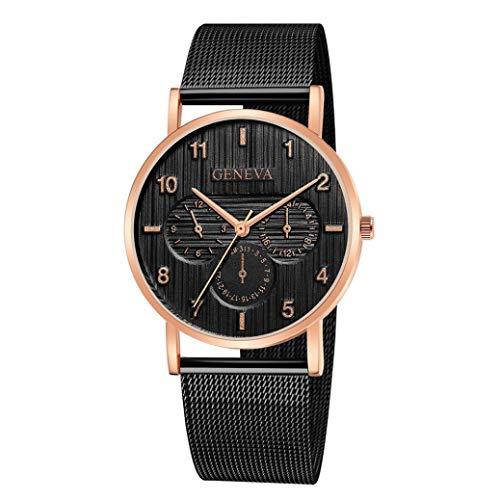 Amazon.com: Womens Watch,Luxury Artistic Stainless Steel Wrist Watch Quartz Analog Business Clock Axchongery (A, 1PC): Clothing