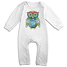 Duola Owls For 6-24 Months Infant Funnies Romper White Size 18 Months