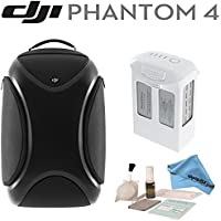 DJI Phantom 4 Travel Bundle: Includes DJI Phantom 4 Backpack, Spare DJI Intelligent Flight Battery for Phantom 4, eDigitalUSA Brush Blower, Cleaning Kit & eDigitalUSA Microfiber Cleaning Cloth