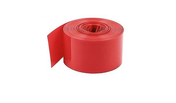 eDealMax PVC termorretráctiles Manga del Abrigo DE 1 x batería AA, 5 m de Largo, 23 mm, Rojo: Amazon.com: Industrial & Scientific