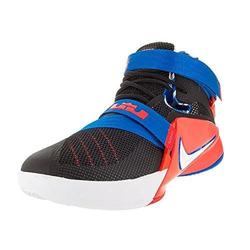 Nike Kids Lebron Soldier IX (GS) Black/White/Soar/Brght Crimson Basketball  Shoe 6 Kids US