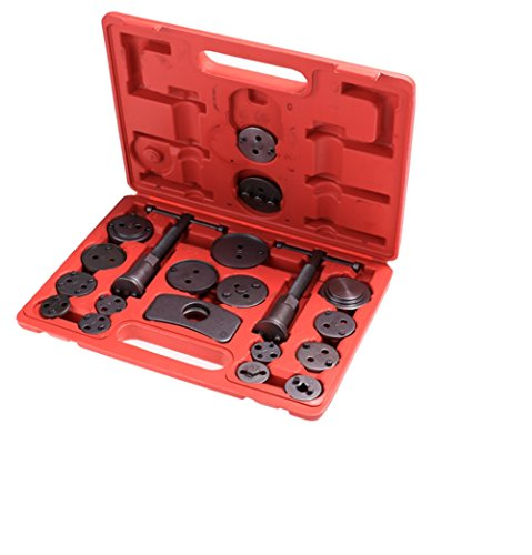 Dtemple 21pcs Professional Disc Brake Caliper Tool Set - Wind Back Pad Tool Kit for Trucks/Cars with Carrying Case