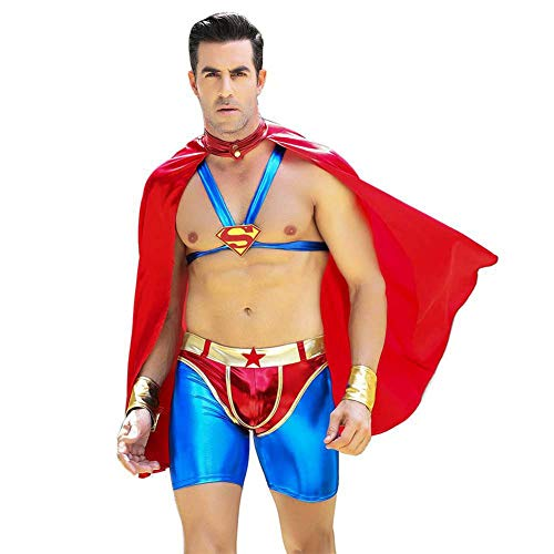 Honiee Mens Role Play Costume Outfit (Super, Free) -