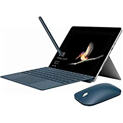 "Microsoft Surface Go 2 in 1 PC Tablet 10"" Touchscreen, 4GB Memory, 64GB Storage, Win 10 Pro, 1800x1200, USB Type C, Webcam, Keyboard, Pen and Mouse - Cobalt Blue (Renewed)"