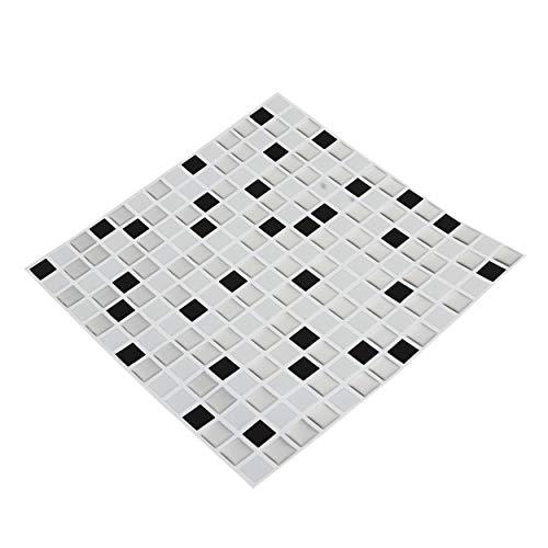CNluca 3D Colorido Mosaico Moderno azulejo de cerámica Sala de Estar Aseo Pegatinas de Pared Piscina Pegatinas de Mosaico