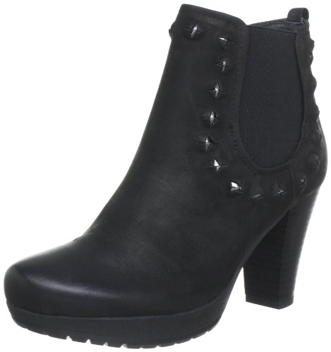 Mujer black Chelsea Elba Schwarz Shoes Marc 100 De Botines Negro Cuero a4Yqxz