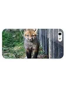 3d Full Wrap Case for iPhone 5/5s Animal Cute Fox Cub