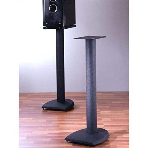 """Pemberly Row 36"""" Metal Speaker Stand in Black"""