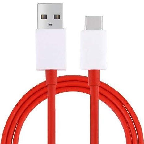 DUX DUCIS® Cable Para OnePlus 7 / 6T / 6 / 5T / 5 / 3T / 3, Dash Tipo C USB Cable De Datos Rápida Cable De Carga (5V/4A) (Rojo)
