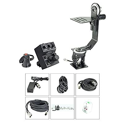 Image of Proaim Professional Motorized Jr. Pan Tilt Head with 12V Joystick Control for DSLR Video Cameras Camcorders up to 6kg/13.2lb for Jib Crane Tripod + Carrying Bag (PT-JR) Camera Cranes