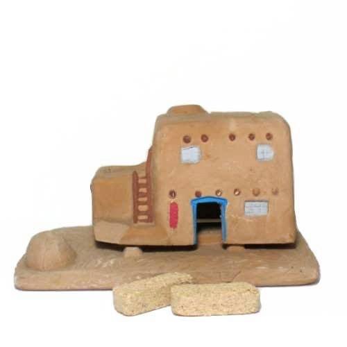 Casa (Adobe House) Burner With Pinon Natural Wood Incense - Incienso De Santa Fe