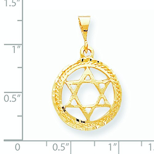 10 k Star de charme de DAVID-supérieure Doré Grade que JewelryWeb or 9 carats