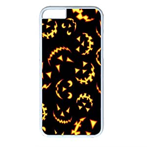 Protective Hard Case Cover For iPhone 6 Durable PC Shell Skin For iPhone 6 with Light Pumpkin